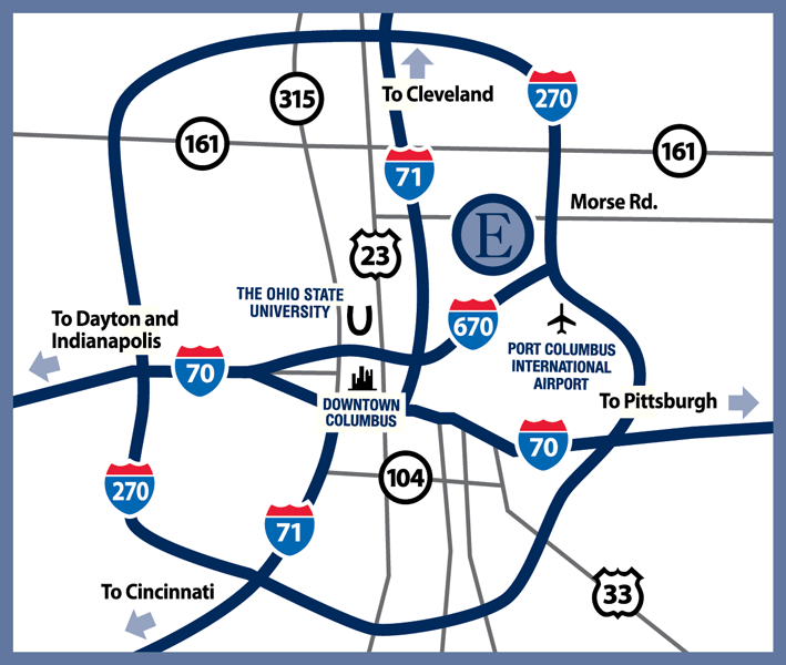 Directions To My Law Office In Columbus Ohio Ruth Ann Hohl - Map of us 70 exit 33 in ohio